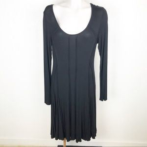 Philosophy scoop neck fit flare dress.         200